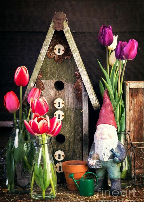 Barn Greeting Card featuring the photograph Inside The Potting Shed by Edward Fielding