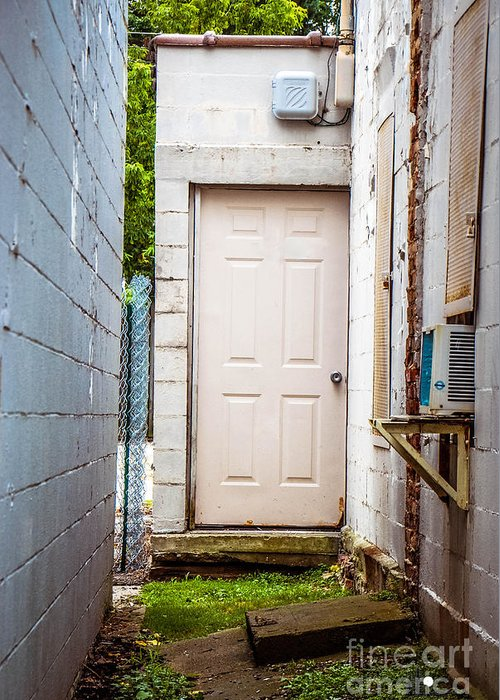 Entrance Greeting Card featuring the photograph Interesting Entrance by Grace Grogan