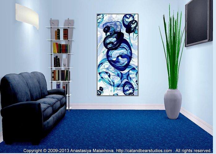 Interior Greeting Card featuring the digital art Interior Design Idea - Immiscible by Anastasiya Malakhova