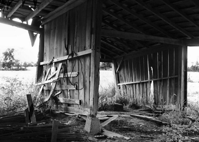 Barns Greeting Card featuring the photograph Interior Of Barn In Plainville Indiana by Julie Dant