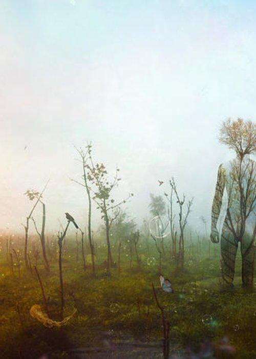 Surreal Landscape Greeting Card featuring the digital art Internal Landscapes by Mario Sanchez Nevado