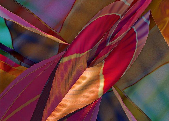 Abstract Greeting Card featuring the digital art Into The Soul by Deborah Benoit