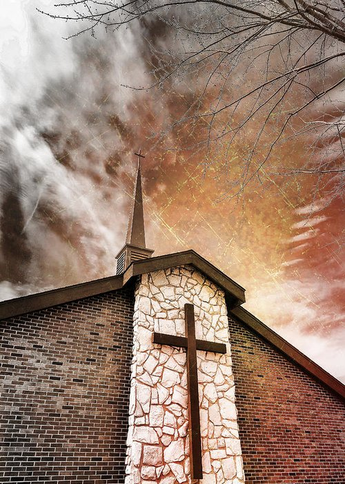Dark Skies Greeting Card featuring the photograph Intrepid Faith by Bill Tiepelman