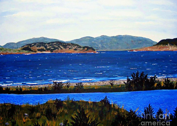 Islands Greeting Card featuring the painting Iona formerly Rams Islands by Barbara Griffin