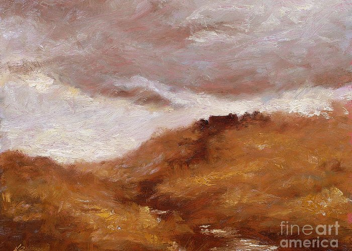 Landscape Paintings Greeting Card featuring the painting Irish Landscape I by John Silver