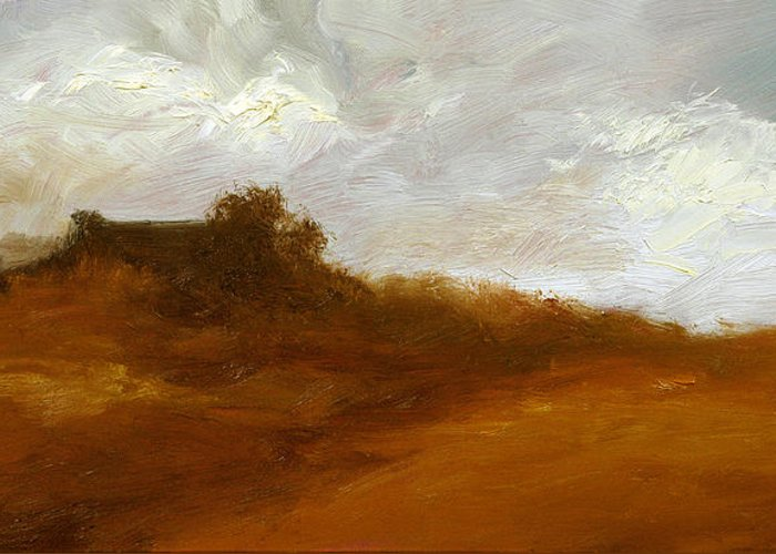 Landscape Paintings Greeting Card featuring the painting Irish Landscape IIi by John Silver