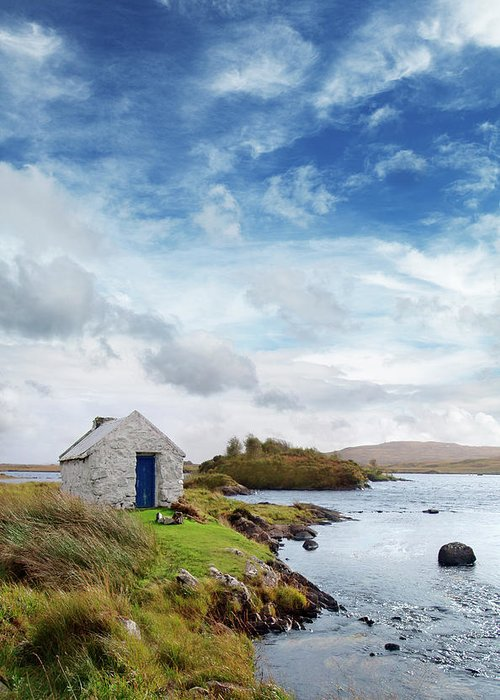 Water's Edge Greeting Card featuring the photograph Irish Landscape In Connemara by Narvikk