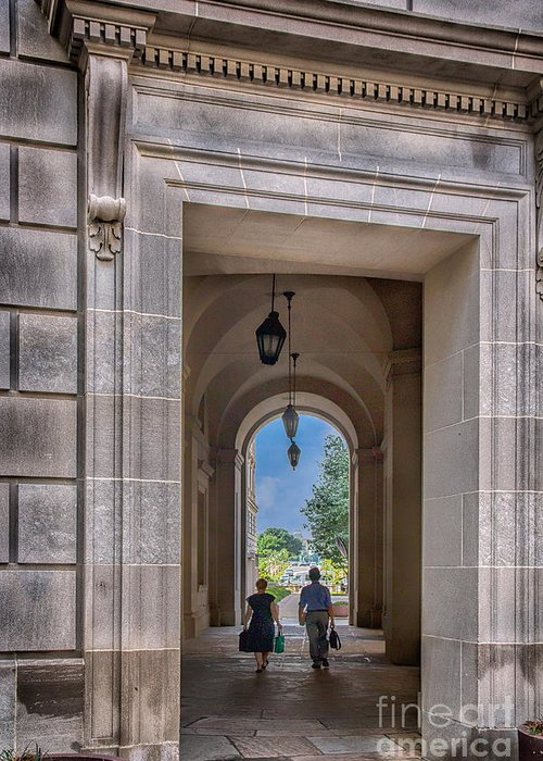 Portals Greeting Card featuring the photograph Irs Gateway by Izet Kapetanovic