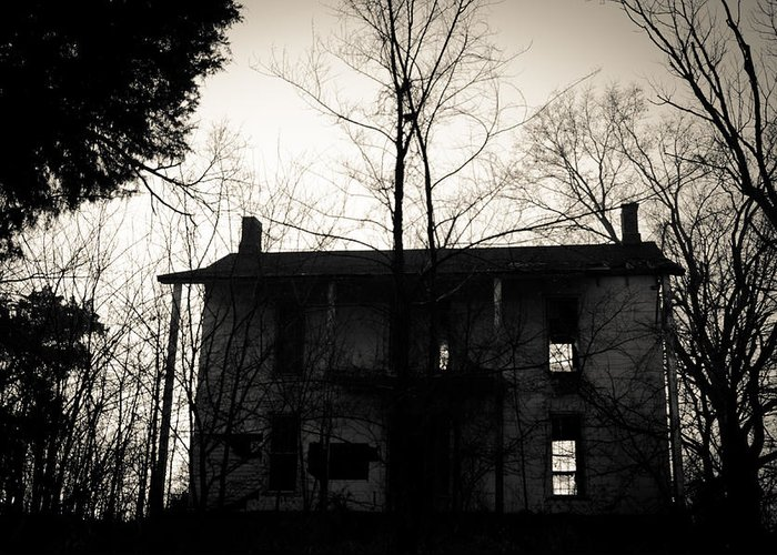 Abandoned Greeting Card featuring the photograph Is Anybody Home by Off The Beaten Path Photography - Andrew Alexander