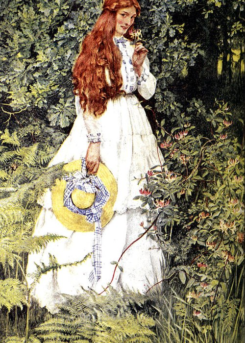 Eleanor Fortescue Brickdale Greeting Card featuring the digital art Is She Not Pure Gold My Mistress by Eleanor Fortescue Brickdale