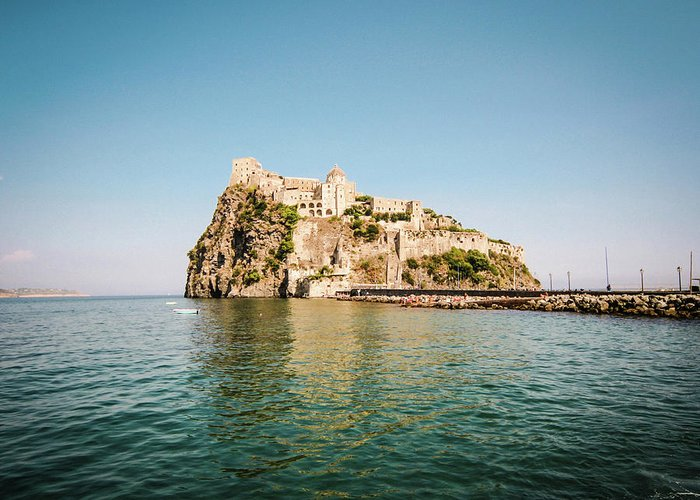 Tyrrhenian Sea Greeting Card featuring the photograph Ischia Island Castle by Angelafoto