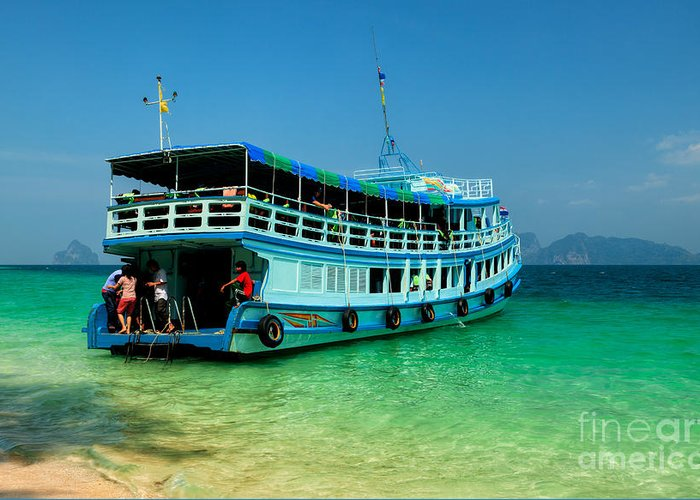 Asia Greeting Card featuring the photograph Island Ferry by Adrian Evans