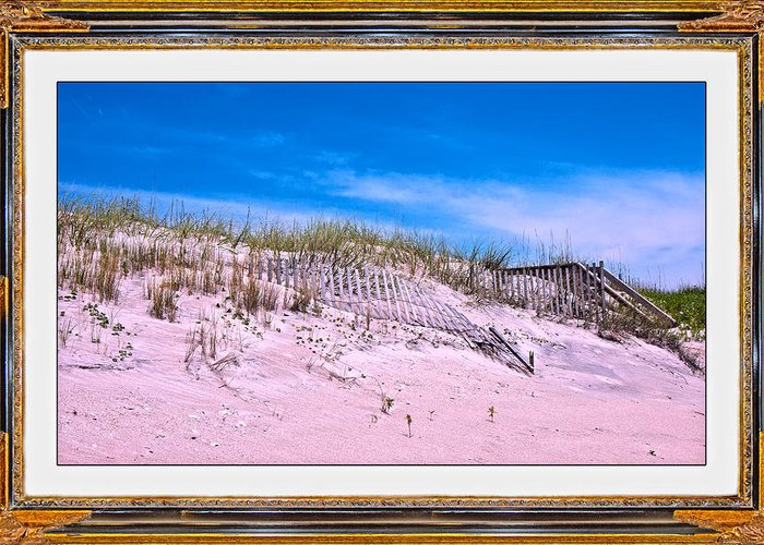 Sand Fences Mixed Media Greeting Cards
