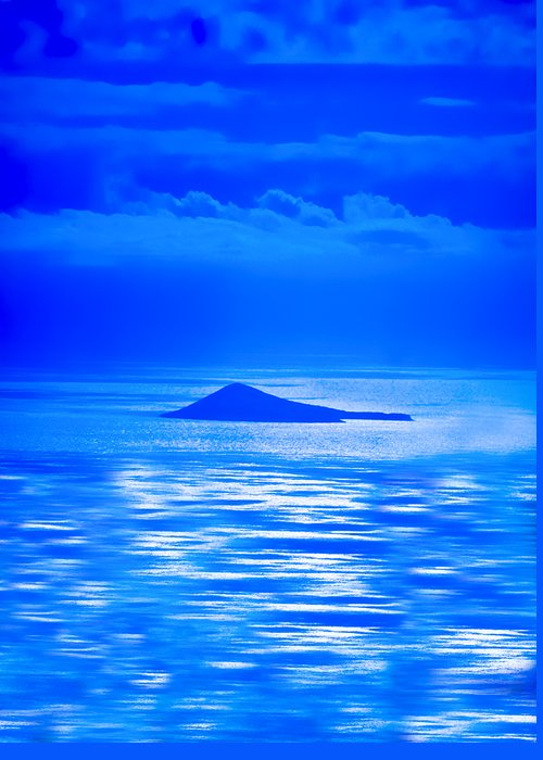 Blue Hawaii Greeting Card featuring the photograph Island Of Yesterday Wide Crop by Christi Kraft