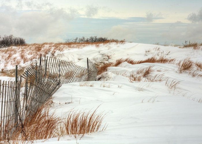 Jones Beach Greeting Card featuring the photograph Island Snow by JC Findley