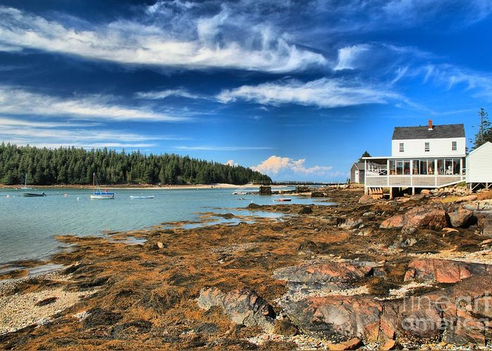 Acadia National Park Greeting Card featuring the photograph Isle Au Haut House by Adam Jewell