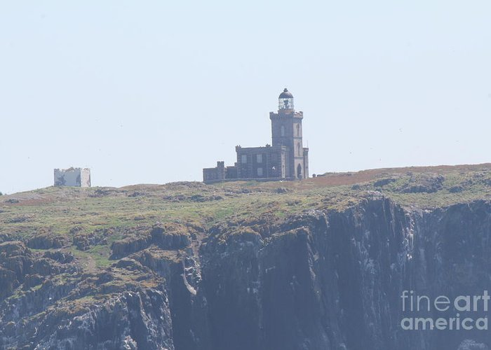 Island Greeting Card featuring the photograph Isle Of May Lighthouse's by David Grant