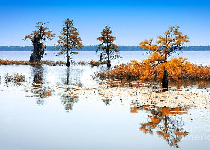 North Carolina Greeting Card featuring the photograph Isle Of Peace - North Carolina by Dan Carmichael