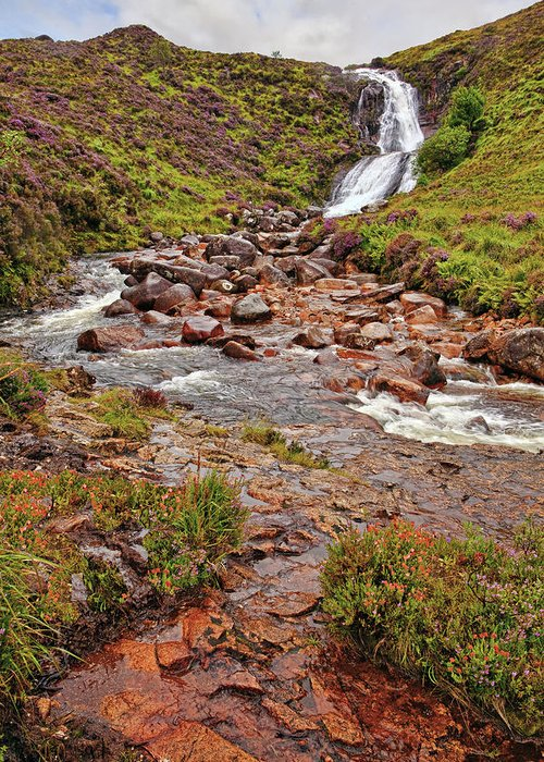 Landscape Greeting Card featuring the photograph Isle Of Skye Waterfall by Marcia Colelli