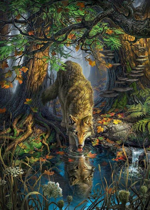 Fallen Leaf Digital Art Greeting Cards