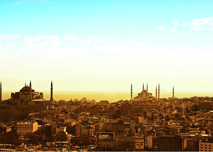 Tranquility Greeting Card featuring the photograph Istanbul by Dhmig Photography