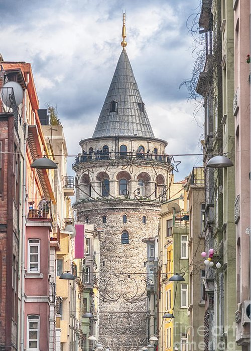 Istanbul Greeting Card featuring the photograph Istanbul Galata Tower by Antony McAulay