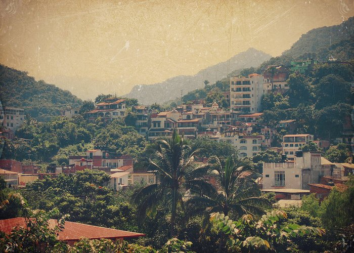 Puerto Vallarta Greeting Card featuring the photograph It Was Years Ago by Laurie Search