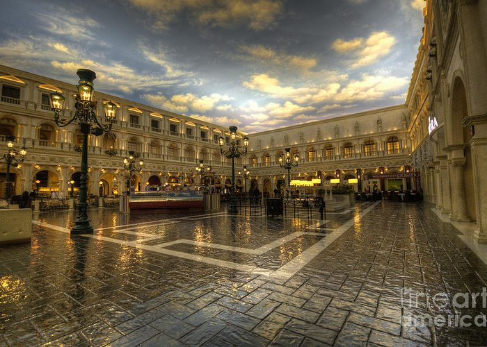 Venitian Greeting Card featuring the photograph Italian American by Rob Hawkins