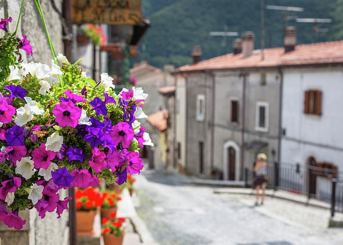 Shutter Greeting Card featuring the photograph Italian Country In Abruzzo by Deimagine