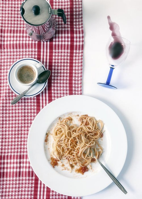 Food Greeting Card featuring the photograph Italian Food by Joana Kruse