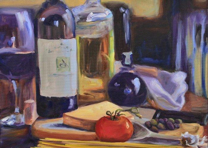 Balsamic Vinegar Paintings Greeting Cards