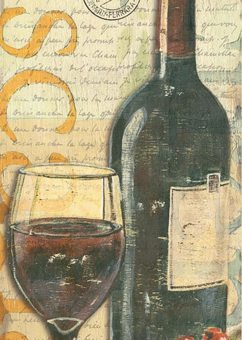 Vintage Red Wine Greeting Cards