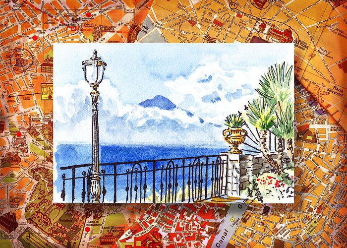 Travel Sketch Greeting Cards