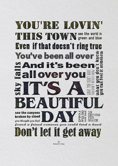 It's A Beautiful Day Typograph...