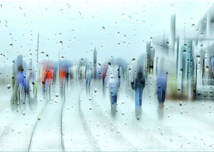 Rain Streaked Window Greeting Cards