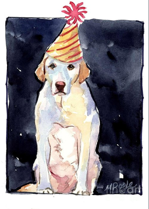 Birthday Greeting Card featuring the painting It's Your Birthday by Molly Poole