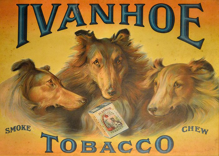 Ivanhoe Greeting Card featuring the photograph Ivanhoe Tobacco - The American Dream by Christine Till