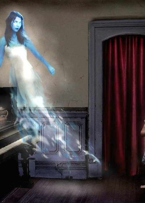 Ghost Greeting Card featuring the photograph Ivory Ghost by Tom Straub