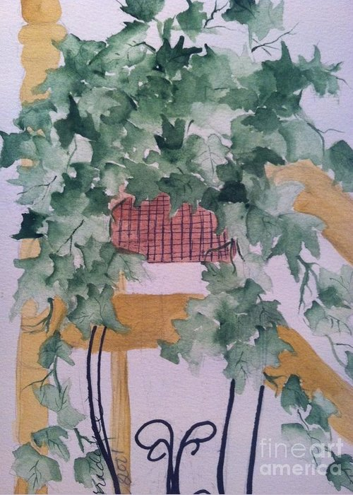 Owl Greeting Card featuring the painting Ivy by Sherry Harradence