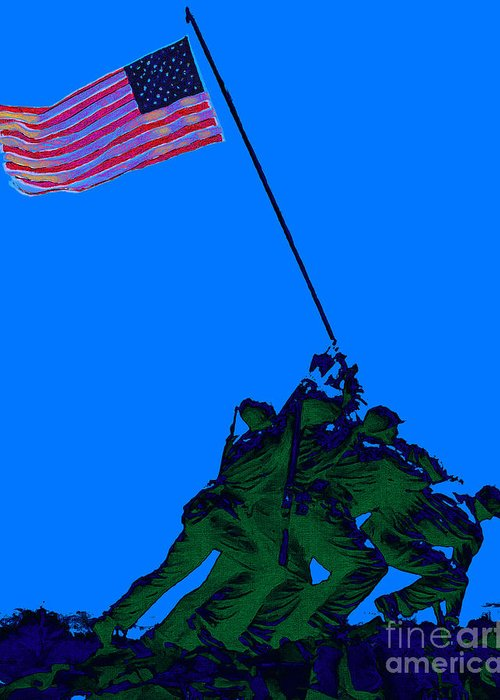 Iwo Jima Greeting Card featuring the photograph Iwo Jima 20130210m88 by Wingsdomain Art and Photography