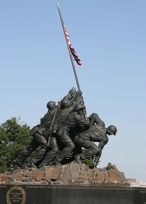 Iwo Greeting Card featuring the photograph Iwo Jima Memorial - 12121 by DC Photographer