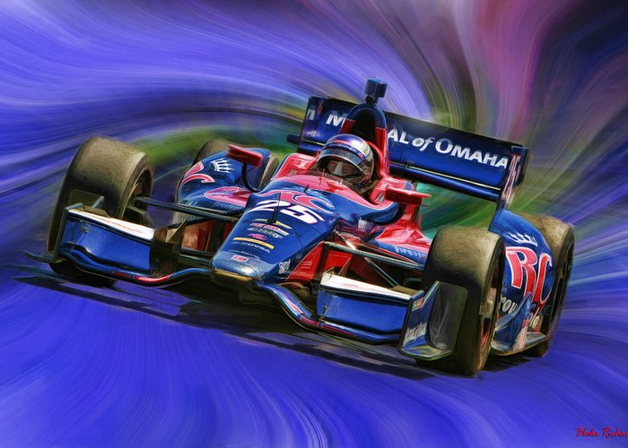 Indycar Series Greeting Card featuring the photograph Izod Indycar Series Marco Andretti by Blake Richards