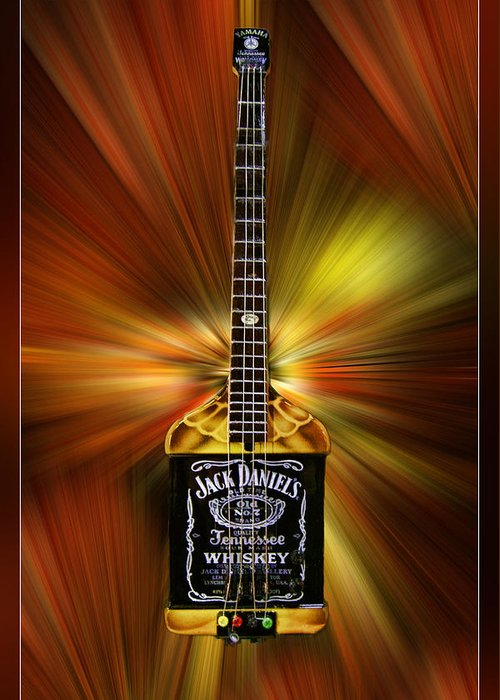 Jack Daniels Whiskey Guitar Greeting Card For Sale By Blake Richards