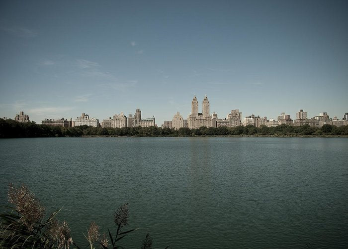 Manhattan Greeting Card featuring the photograph Jackie Onassis Reservoir by Newyorkcitypics Bring your memories home