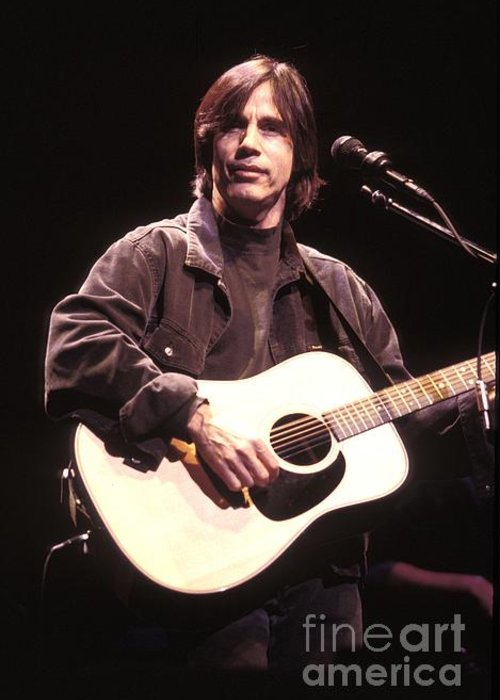 Photos Greeting Card featuring the photograph Jackson Browne by Concert Photos