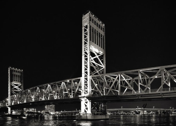 Main Greeting Card featuring the photograph Jacksonville Florida Main Street Bridge by Christine Till