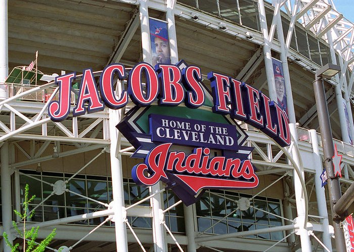 America Greeting Card featuring the photograph Jacobs Field - Cleveland Indians by Frank Romeo