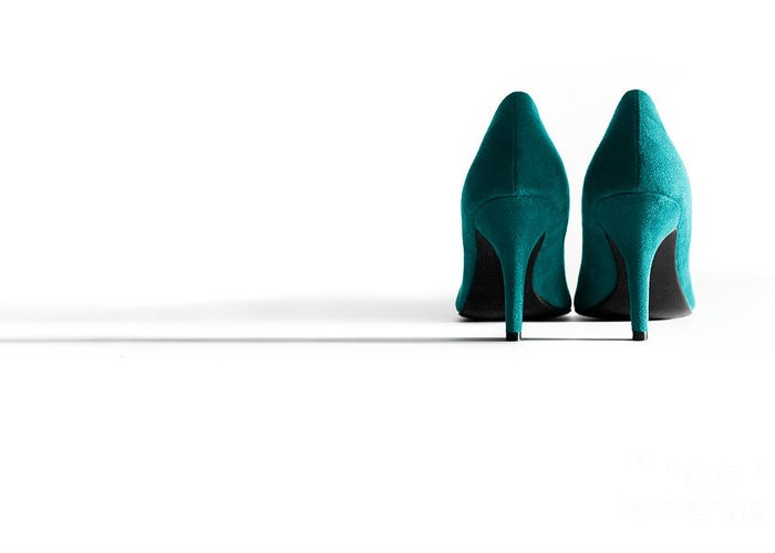 Shoe Greeting Card featuring the photograph Jade High Heel Shoes by Natalie Kinnear