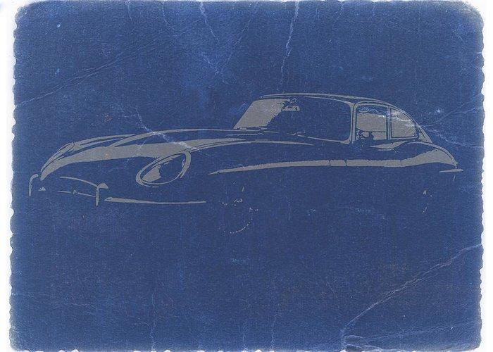 Jaguar E Type Greeting Card featuring the photograph Jaguar E Type by Naxart Studio