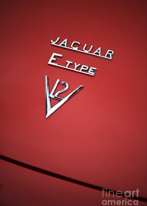 Jaguar Greeting Card featuring the photograph Jaguar E Type V12 Abstract by Tim Gainey